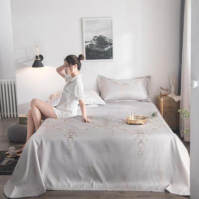 2019新款900D竹语冰丝凉席三件套床单款 250*250cm 雅韵-米灰
