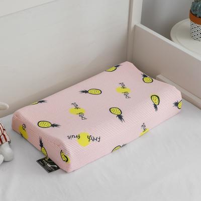 2019新款儿童乳胶枕 菠萝粉 44*27cm