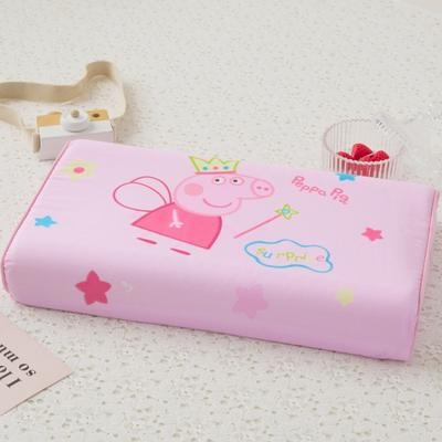 2019新款儿童全棉大版乳胶枕- 44*27cm 佩奇公主
