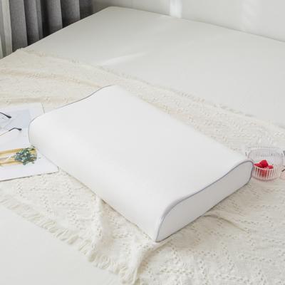 2019新款全棉水洗棉纯色乳胶枕-40*60cm 白