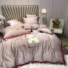 60s长绒棉系列四件套 萌迪 1.5m(5英尺)床 萌迪 豆沙