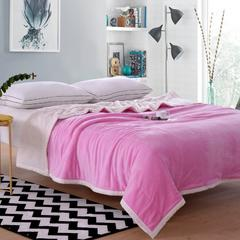 花曼庭绒品会贝贝绒复合毯 1.5M 粉色