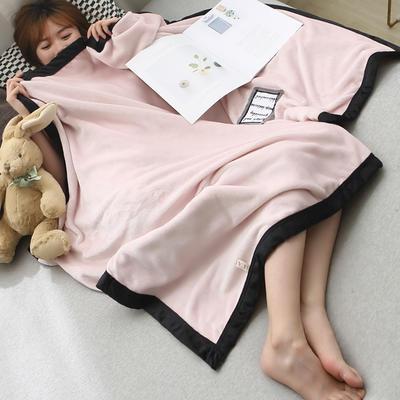 2019新款法兰绒午睡毯 100*150 脏脏粉