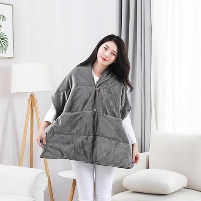 2019新款出口欧美品质保暖护肩懒人毯 38*190 绅士灰
