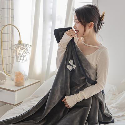 2021新款 法兰绒女神毯 1.0*1.5m 绵羊灰