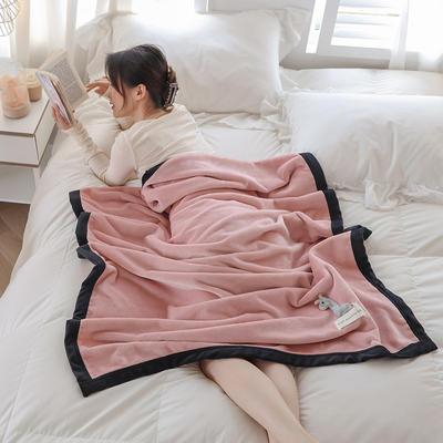 2021新款 法兰绒女神毯 1.0*1.5m 小鹿粉