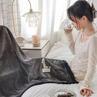 2021新款 法兰绒女神毯 1.0*1.5m 小鹿灰
