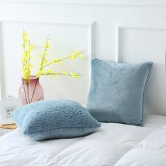 羊羔绒抱枕系列 45x45cm 孔雀蓝