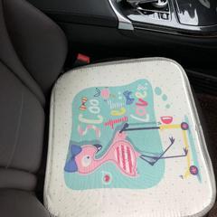 2018新款-夏季冰丝席多功能卡通坐垫三件套方垫 500*30cm 40/个 爱情鸟