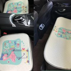 2018新款-夏季冰丝席多功能卡通坐垫三件套长垫 43*43cm /个 爱情鸟