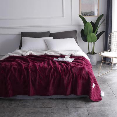 2018新款-魔法绒毯 150*200cm 暗樱红
