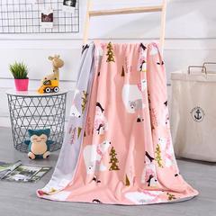 2018新款baby blanket双层加厚儿童绒毯 专版花型 100*140cm 北极熊