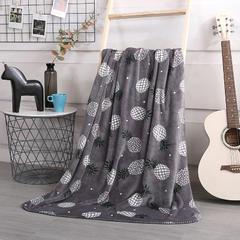 2018新款baby blanket双层加厚儿童绒毯 专版花型 100*140cm 菠萝
