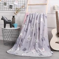 2018新款baby blanket双层加厚儿童绒毯 专版花型 100*140cm 小兔子