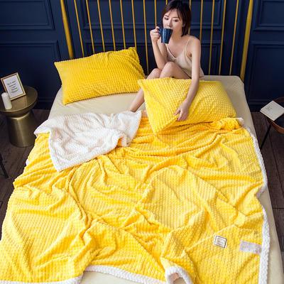 2019新款菠萝格随意毯 150*200 随意毯-黄
