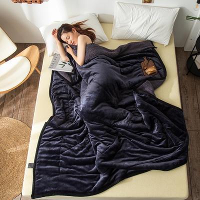 2019新款牛奶绒三层复合毯 150cmx200cm 深灰(牛奶绒+羊羔绒)