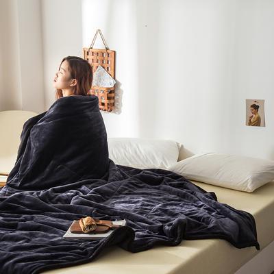 2019新款牛奶绒三层复合毯 150cmx200cm 深灰(双面牛奶绒)