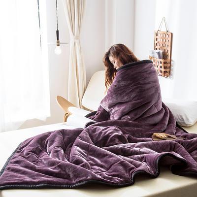 2019新款牛奶绒三层复合毯 150cmx200cm 紫罗兰(双面牛奶绒)