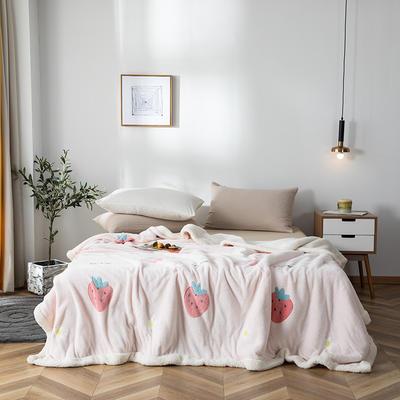 2019新款雪花绒被套毯 150cmx200cm 草莓