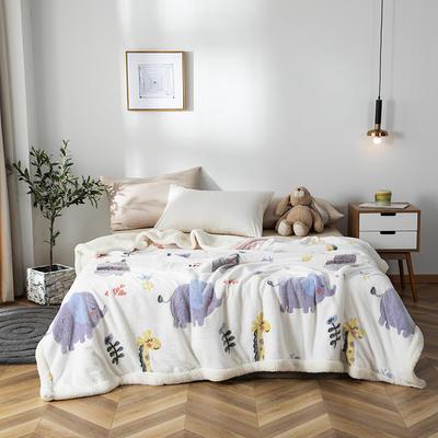 2019新款雪花绒被套毯 150cmx200cm 大象