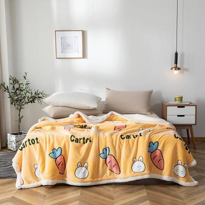2019新款雪花绒被套毯 150cmx200cm 胡萝卜-黄