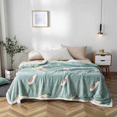 2019新款雪花绒被套毯 150cmx200cm 牛油果