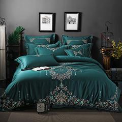 顾家家居60绣花系列 标准(1.5m-1.8m)床 珠帘幽梦