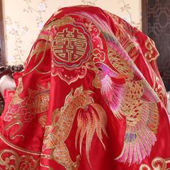 玉雅家纺婚庆多件套 盖头 盖头 大红