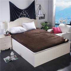 法兰绒纯色床垫x7cm厚 90x200 咖啡色(纯色大床)