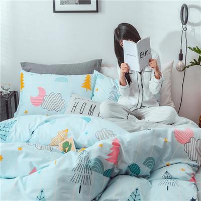 2019新款-13070全棉2020微信红包免费进群(床单款 ) 三件套1.2m(4英尺)床 筑梦师