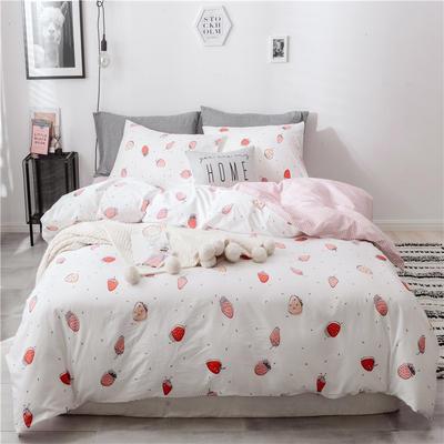 2019新款-13370全棉四件套总 床单款三件套1.2m(4英尺)床 花海