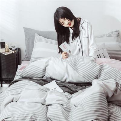 2019新款-13370全棉四件套总 床笠款2.0m(6.6英尺)床 针织-灰