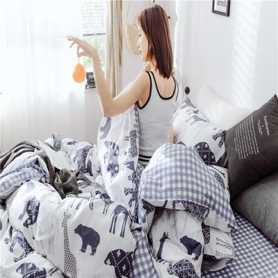 2019新款-13370全棉2020微信红包免费进群总 床单款三件套1.2m(4英尺)床 弗兰迪