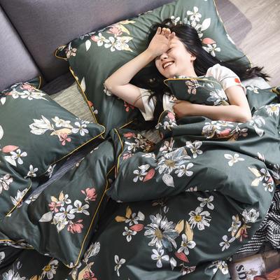 2019新款-全棉轻奢系列四件套床单款 三件套1.2m(4英尺)床 浮华