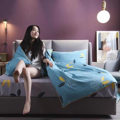 2019新款-全棉轻奢系列2020微信红包免费进群床单款 三件套1.2m(4英尺)床 雪梨-绿