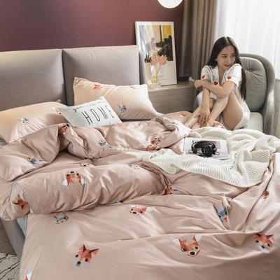2019新款-全棉轻奢系列四件套床笠款 四件套床笠款加大1.8m(6英尺)床 米尧-卡其