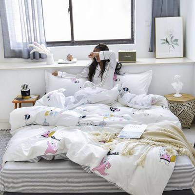 2019新款-全棉13370四件套(床单款) 床单款三件套1.2m(4英尺)床 假日