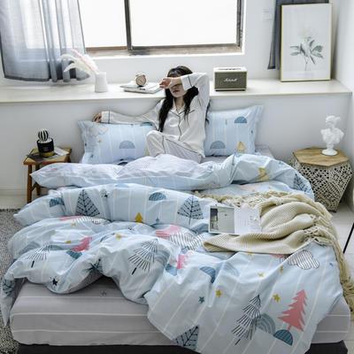 2019新款-全棉133702020微信红包免费进群(床单款) 床单款三件套1.2m(4英尺)床 筑梦师