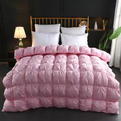 2018新款扭花羽绒被 150x200cm5斤 粉色