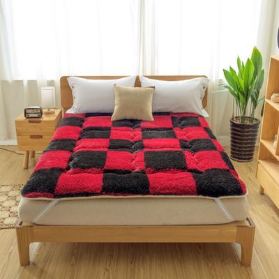 城辉床垫火山绒床垫 0.9*2m 红黑