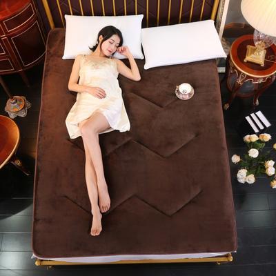 2018新款-法莱绒床垫 0.9*2m 法莱绒 咖啡色