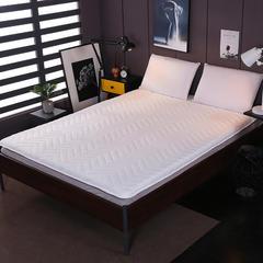 2018新款-针织棉加厚夹棉床垫 90*200*6cm 白色