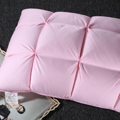 白鹅绒法式面包羽绒枕 上下绒,中间鸭毛片48*74cm粉色