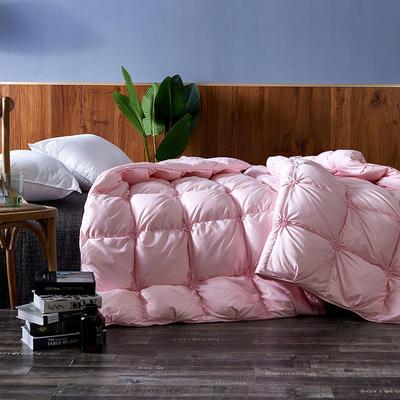 2018新款羽绒被被子被芯-西西里 粉 200*230cm 90%白鸭绒