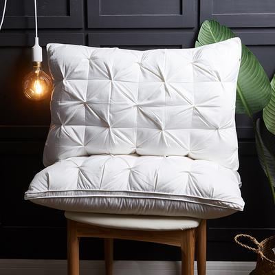 2018新款枕芯-扭花立体枕48*74cm 白