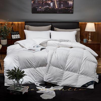 2019新款五星级酒店100全棉支贡缎95%白鹅绒被 羽绒被 200*230高分绒(5.6斤) 白