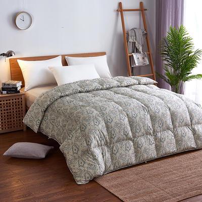 2019新款95%白鹅绒被120支日本花卉出口欧洲印花羽绒被 200*230高分绒(5.2斤) 日本花卉-布鲁克