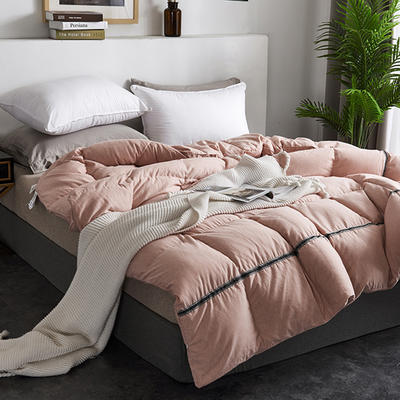 2019新款澳洲羊绒面料95%白鹅绒羽绒被 200*230高分绒(6.4斤) 粉色