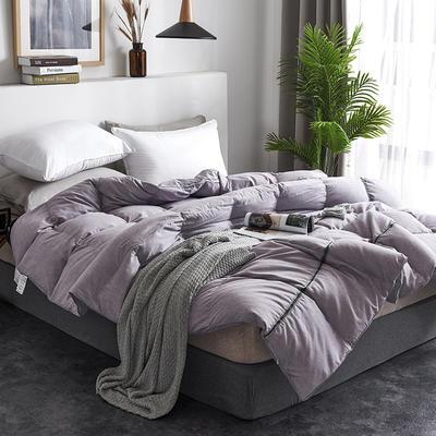 2019新款澳洲羊绒面料95%白鹅绒羽绒被 200*230高分绒(6.4斤) 紫色
