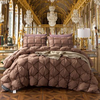羽绒被 被芯 被子 冬被 羽绒枕芯 枕芯枕头  羽绒床垫 床垫 150*200cm 咖色